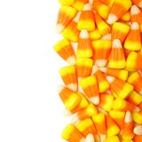 Halloween candy corn border Royalty Free Stock Images