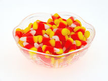 Halloween Candy Corn In Dish Side View Royalty Free Stock Image