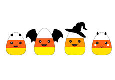 Halloween Candy Corn Flat Design Vector Royalty Free Stock Photo