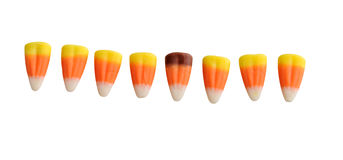 Halloween Candy Corn Isolated on Stock Photography