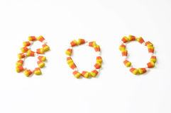 Halloween candy corn . Royalty Free Stock Image