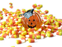 Halloween candy corn . Stock Photos