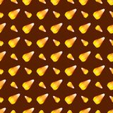 Halloween candy corn seamless pattern vector background holiday horror wallpaper c  Stock Photography