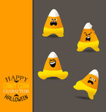 Halloween candy corn shaped characters Royalty Free Stock Photo