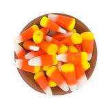 Halloween candy corn in a small bowl Stock Photo