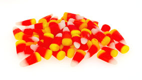 Halloween Candy Corn On A White Background Stock Photography