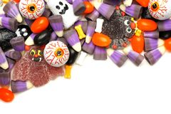 Halloween candy corner border Royalty Free Stock Images