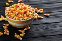 Halloween candy corns Stock Images
