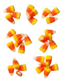 Halloween Candy Corns isolated on white Stock Photos