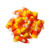 Halloween Candy Corns isolated on white Royalty Free Stock Image