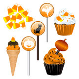 Halloween Candy Cupcakes Stock Images