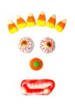 Halloween candy face Stock Images