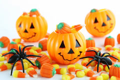 Halloween candy. With jack o lantern Stock Photography