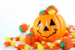 Halloween candy. With jack o lantern Stock Images