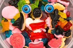 Haloween candy monster eyeballs Royalty Free Stock Photos