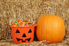 Halloween candy with a pumpkin Stock Photography
