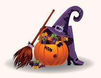 Halloween candy pumpkin Stock Photo
