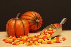 Halloween Candy Scene stock photo