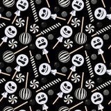 Halloween Candy Seamless Pattern vector illustration