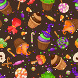 Halloween candy seamless pattern. Royalty Free Stock Photography