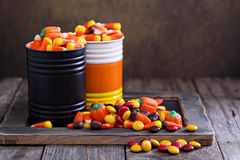 Halloween candy in small tins Stock Photography