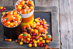 Halloween candy in small tins Stock Image