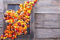 Halloween candy in small tins Royalty Free Stock Image