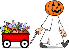 Halloween Candy Wagon Stock Images