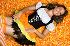 Halloween Candy Woman stock images