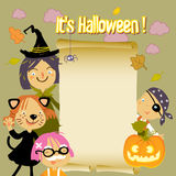 Halloween caçoa o fundo Imagens de Stock