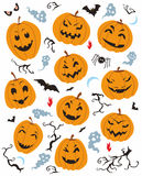 Halloween Caracters Set Royalty Free Stock Photography