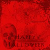 Halloween card 1 Royalty Free Stock Image