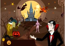 Halloween card Royalty Free Stock Images