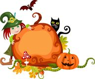 Halloween card royalty free illustration
