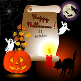 Halloween card. Royalty Free Stock Photos