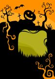 Halloween card. Vector Illustration of a halloween card Stock Photo