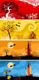 Halloween card. Vector illustration of a halloween card Stock Image