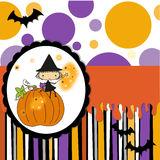 Halloween card Stock Image