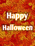 Halloween card with autumn leaves Stock Photo