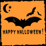Halloween card with bat Stock Photos