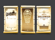 Halloween card classic and vintage style design element vector i Stock Photos