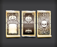 Halloween card classic and vintage style design element vector i Royalty Free Stock Image