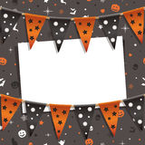 Halloween card decoration Royalty Free Stock Images
