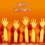Halloween card design Royalty Free Stock Photos