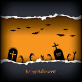 Halloween card design Stock Photography