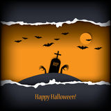Halloween card design Royalty Free Stock Photo