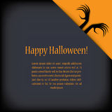 Halloween card design with zombie hands. Eps10 Royalty Free Stock Photos