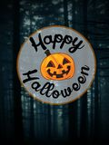 Halloween card on forest background Royalty Free Stock Image