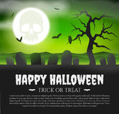 Halloween Card with gravestones Stock Photo