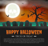 Halloween Card with gravestones Royalty Free Stock Images